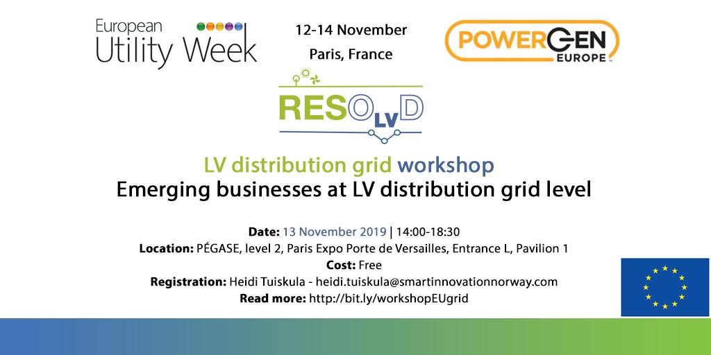 Emerging Businesses At LV Distribution Grid Level Workshop In European Utility Week